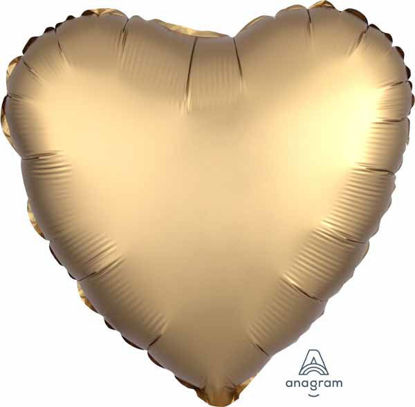 "Picture of 18"" Satin Luxe Gold Heart Foil Balloon (helium-filled)"