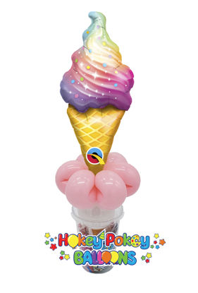Picture of Rainbow Swirl Ice Cream - Balloon Candy Cup