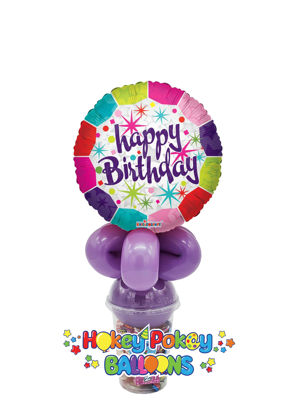 Picture of Happy Birthday Fresh - Balloon Candy Cup