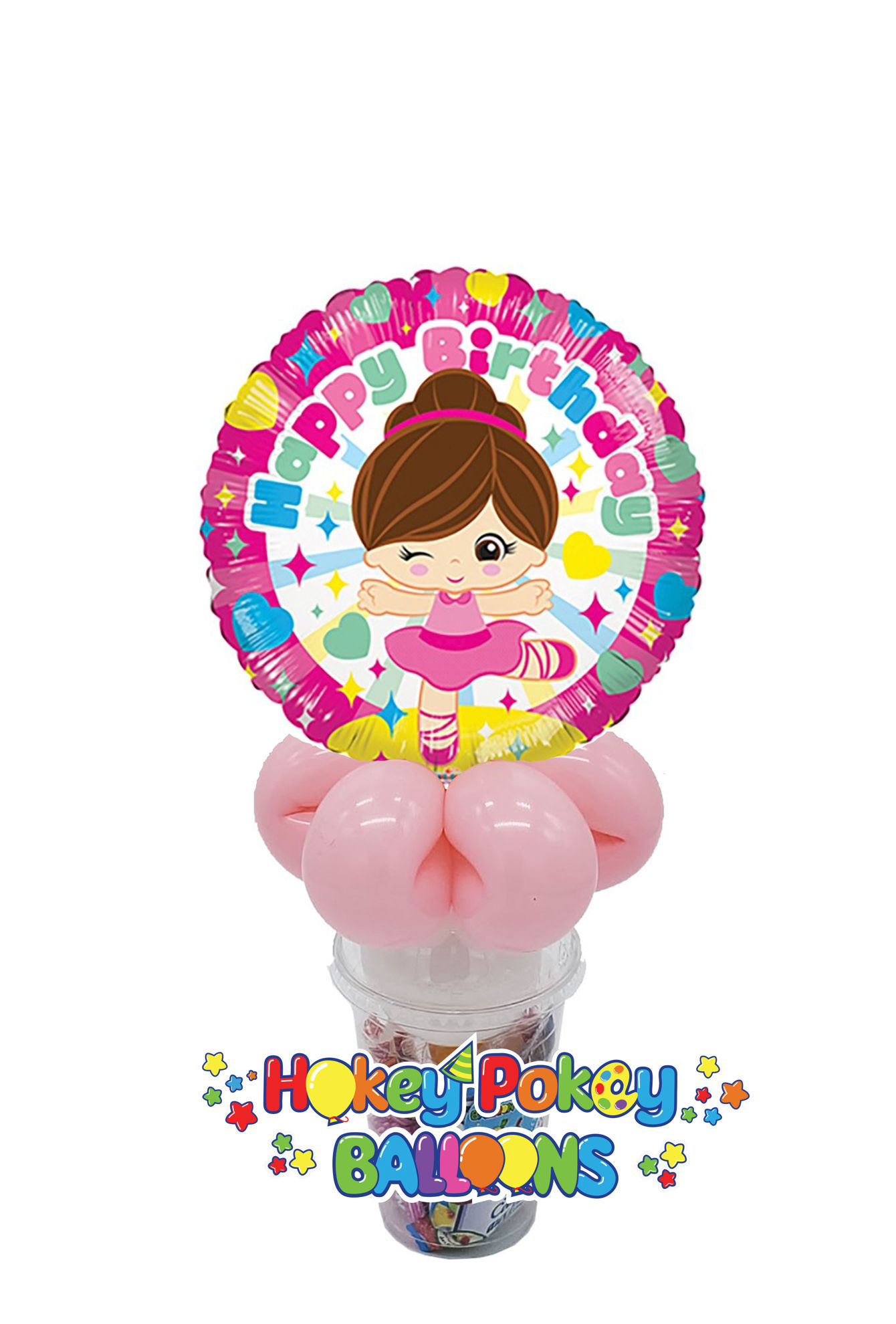 Picture of Birthday Ballerina - Balloon Candy Cup