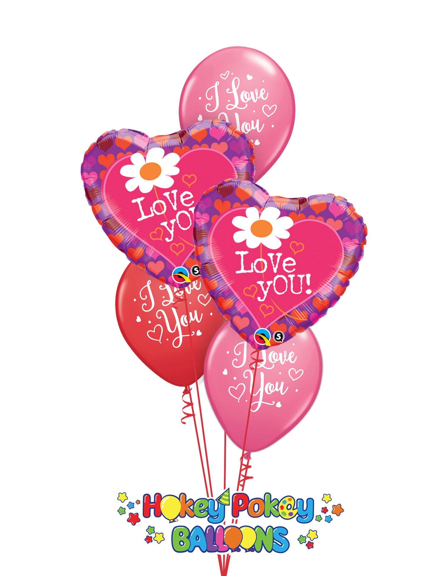 Picture of I love You - Mother's Day Balloon Bouquet of 5