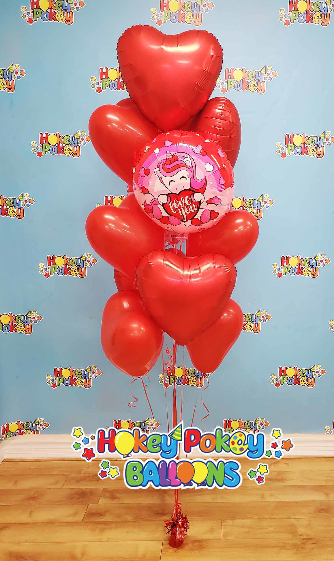 Picture of 18'' Heart Foil Balloon Bouquet (up to 50 balloons)