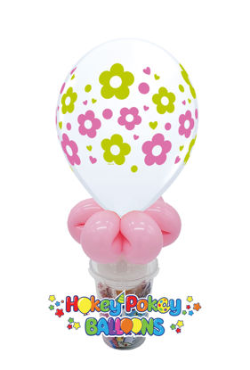 "Picture of 11"" Daisies Balloon Candy Cup"