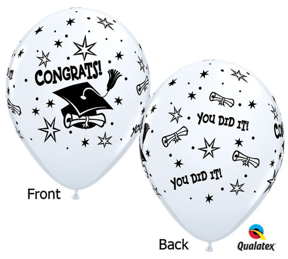 """Picture of 11"""" Graduation congrats! Balloon Candy Cup"""