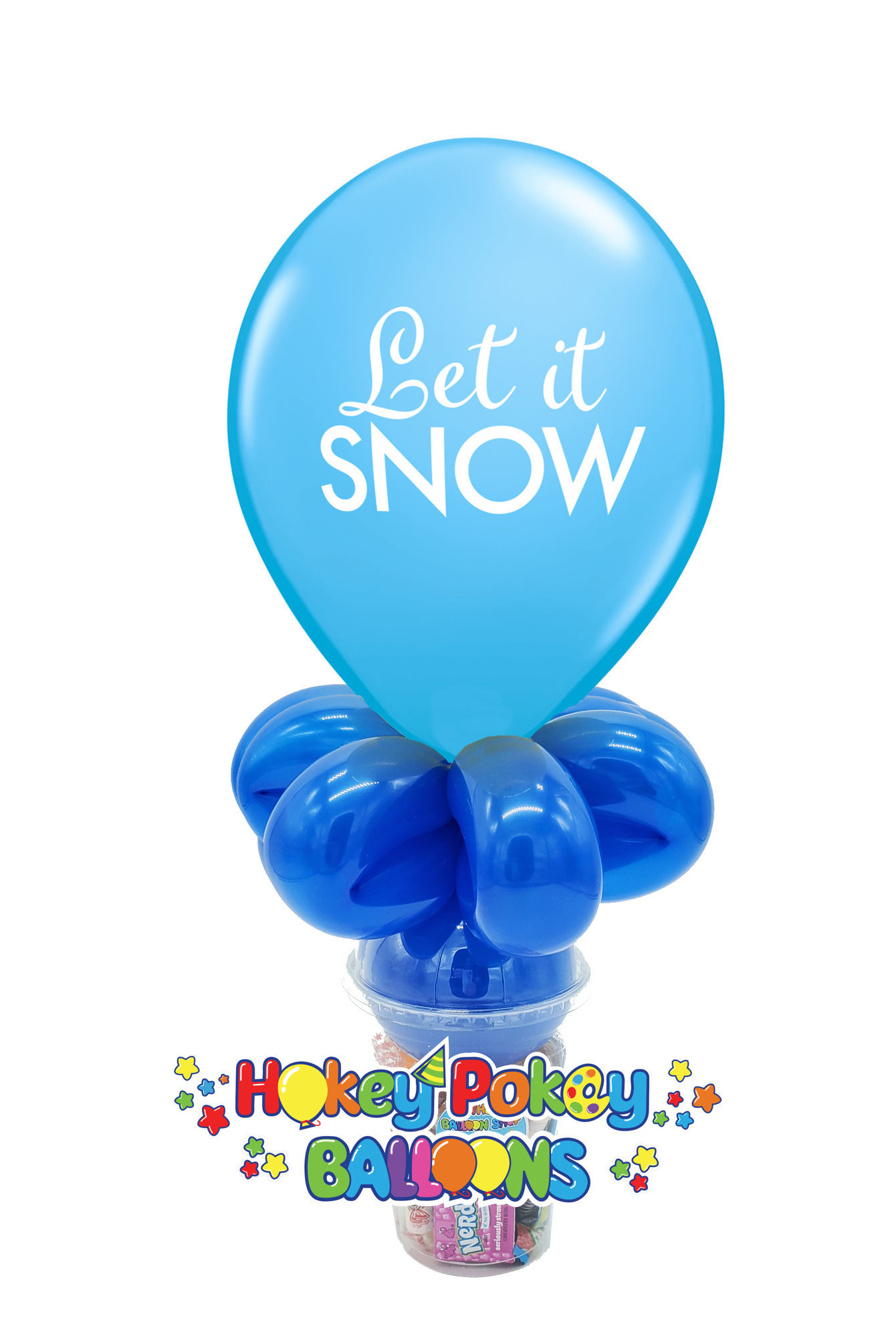 "Picture of 11"" Let it Snow Balloon Candy Cup"