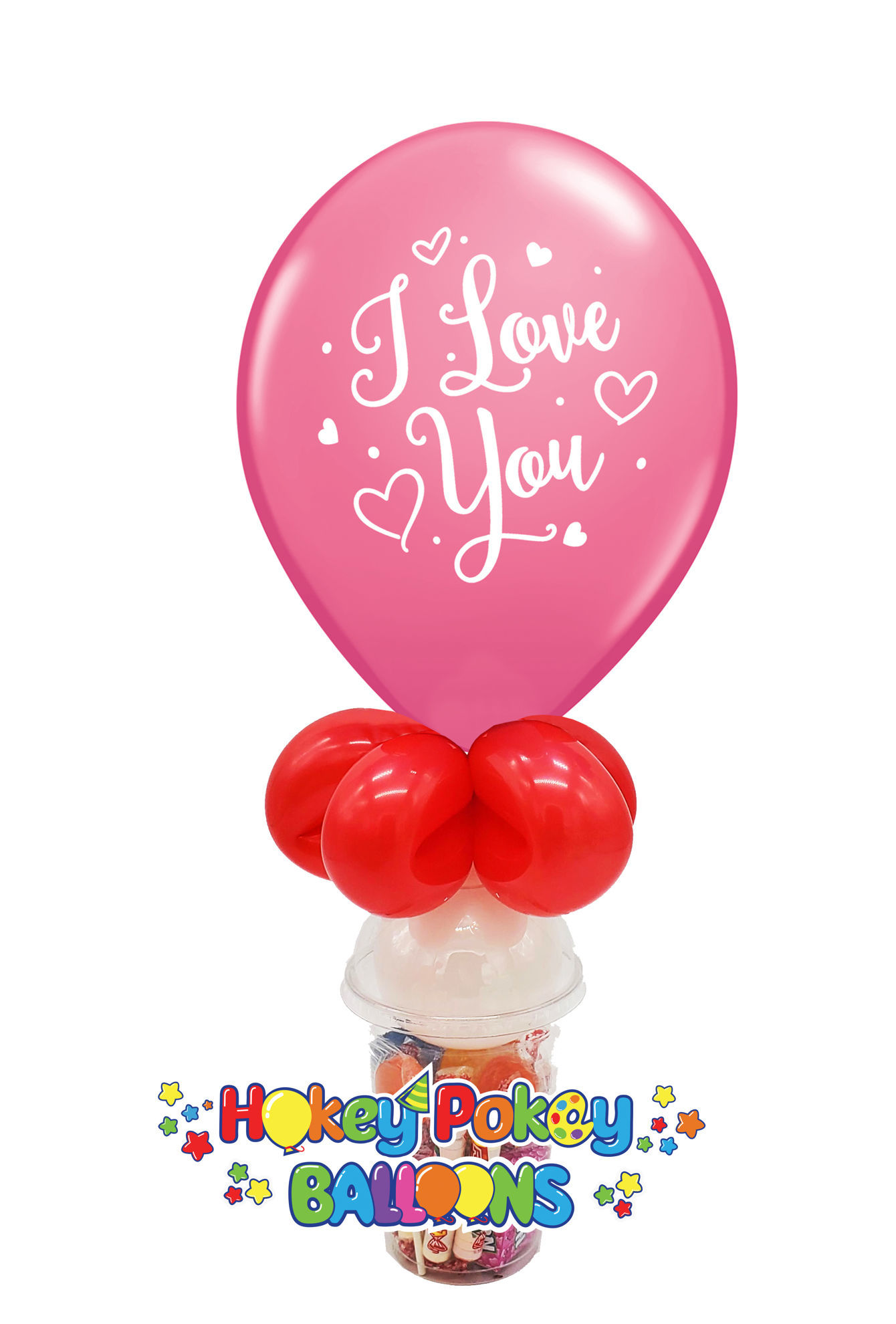Picture of 11'' I love You! -  Balloon Candy Cup