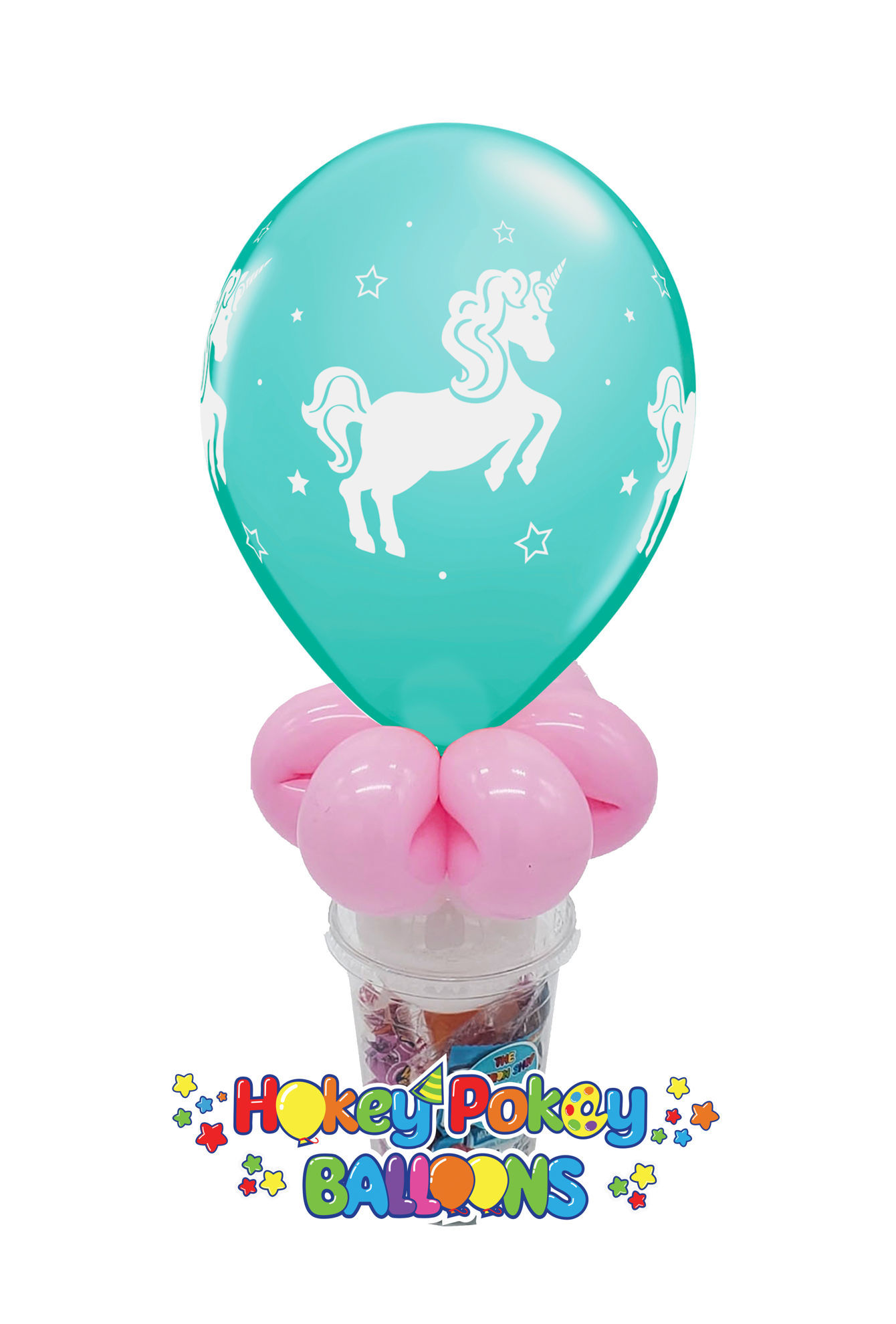 "Picture of 11"" Whimsical Unicorn - Balloon Candy Cup"