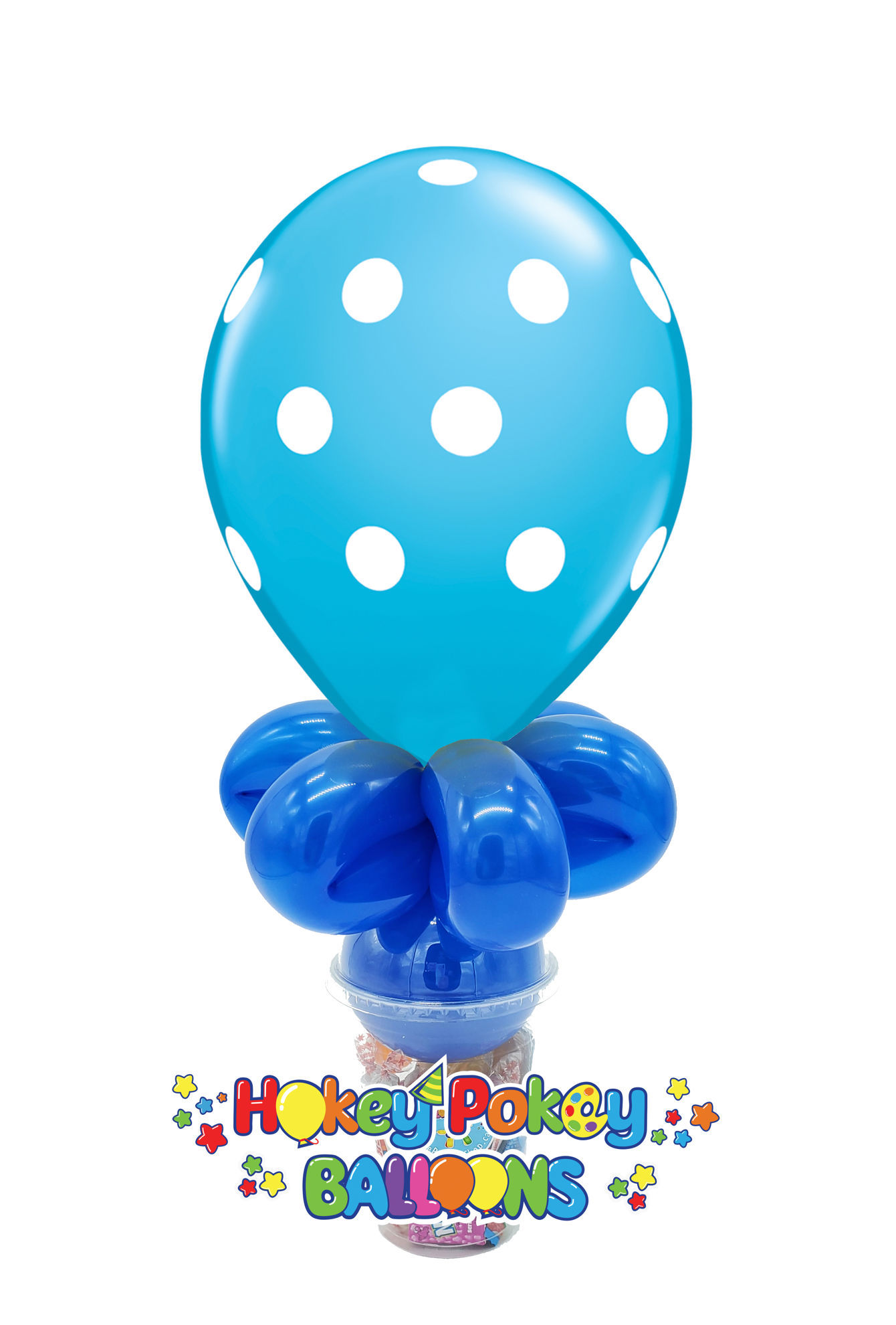 """Picture of 11"""" Polka Dot  - Balloon Candy Cup"""