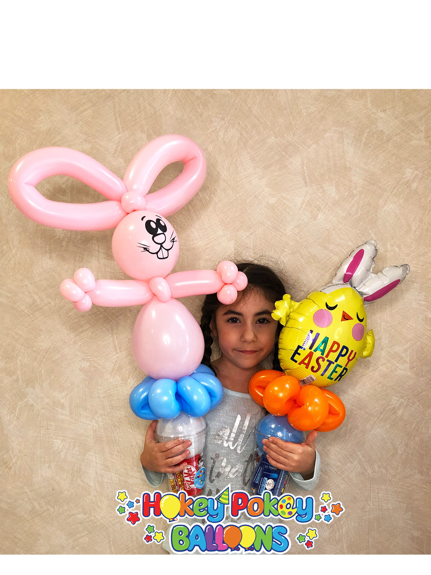 Picture of Chick with Bunny Ears - Balloon Candy Cup