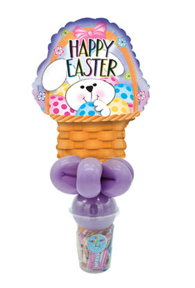Picture of Bunny Basket Happy Easter - Balloon Candy Cup