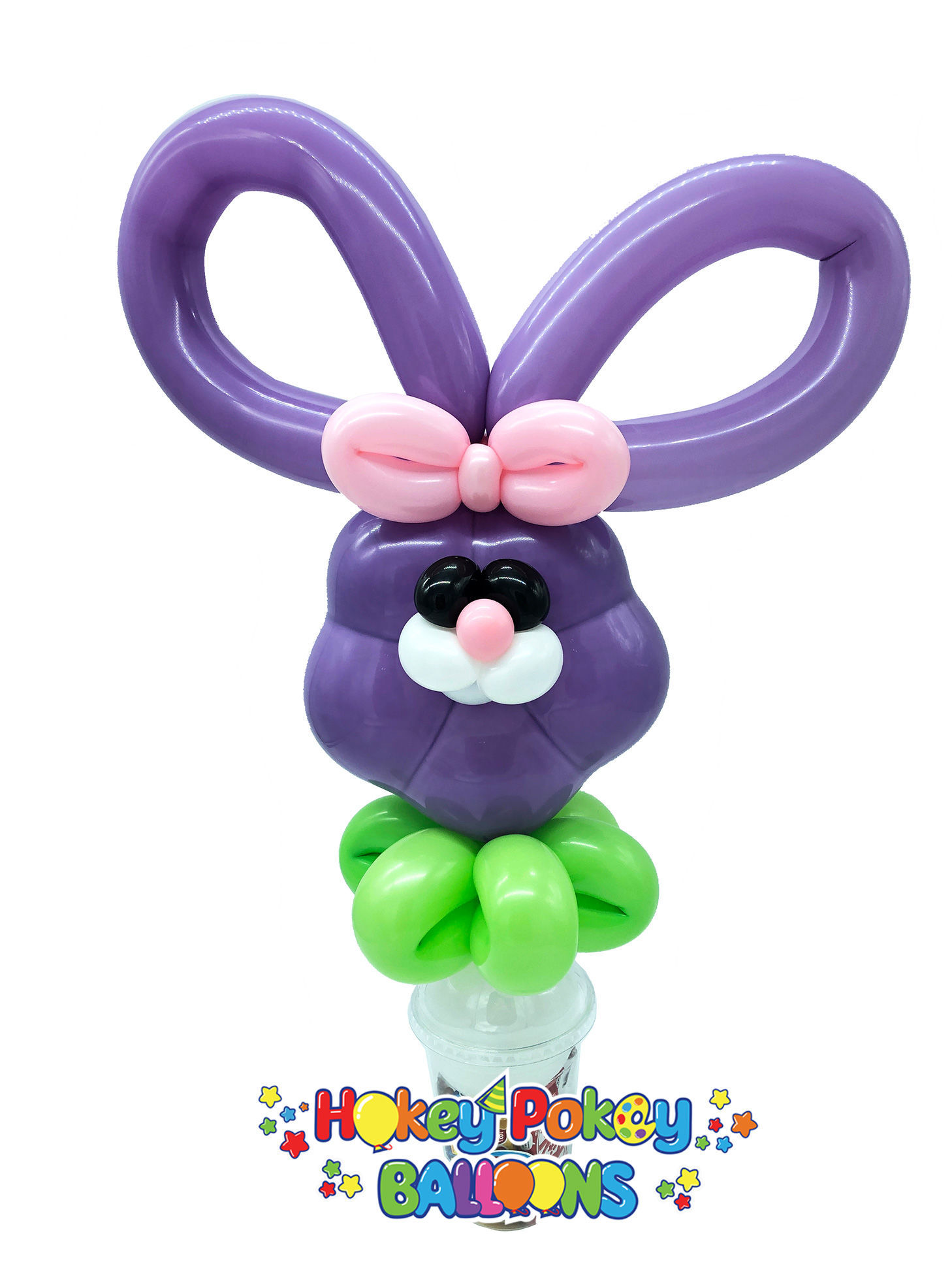 Picture of Easter Bunny Head - Balloon Candy Cup