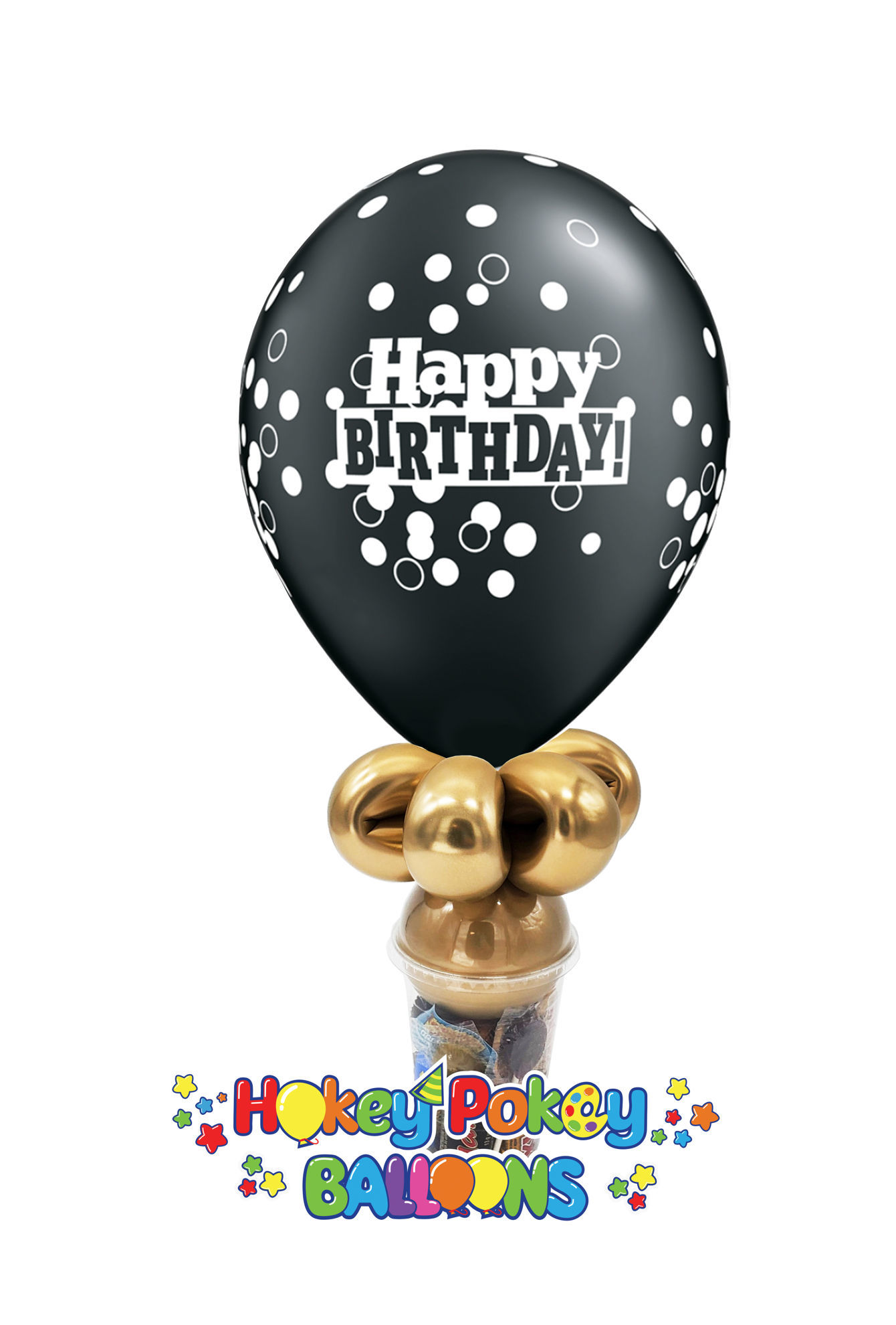 """Picture of 11"""" Birthday  Confetti -  Balloon Candy Cup"""