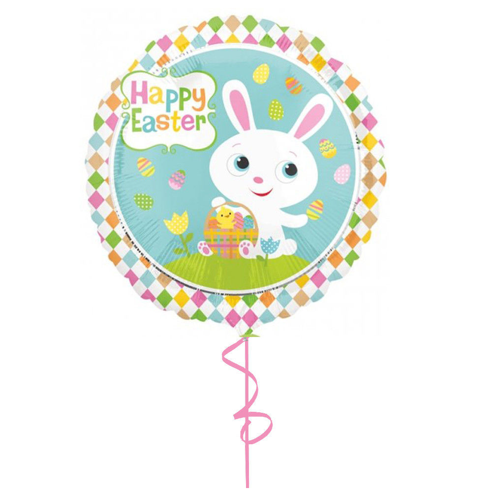 """Picture of 18"""" Adorable Bunny - Foil Balloon  (helium-filled)"""