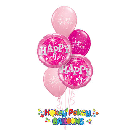 Picture of Shining Star Birthday Balloon Bouquet of 5