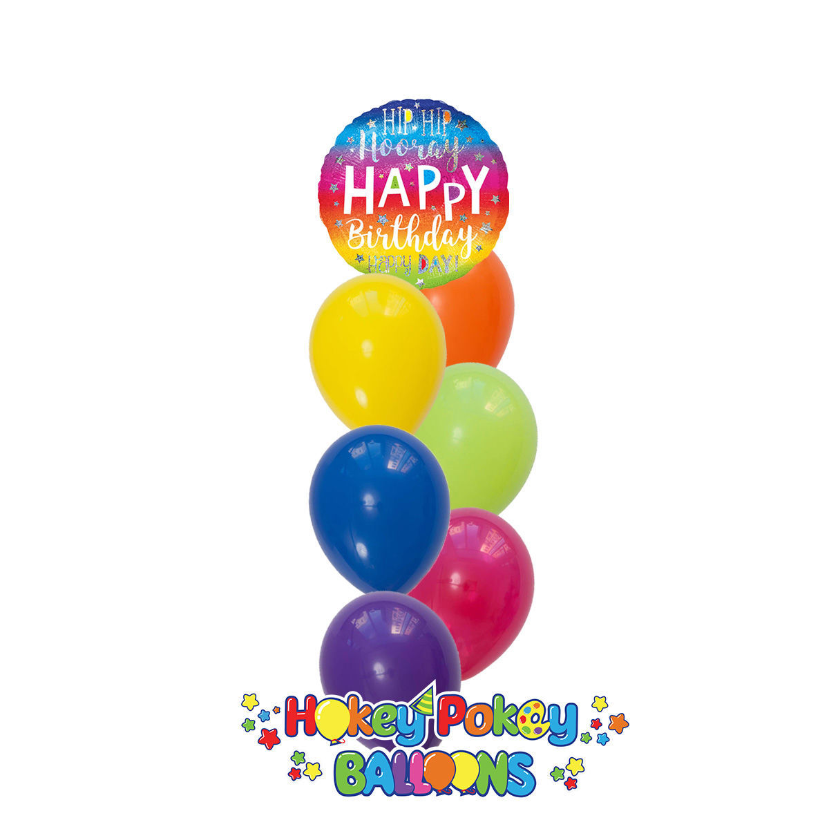 Picture of Hip Hip Hooray Birthday Balloon Bouquet of 7