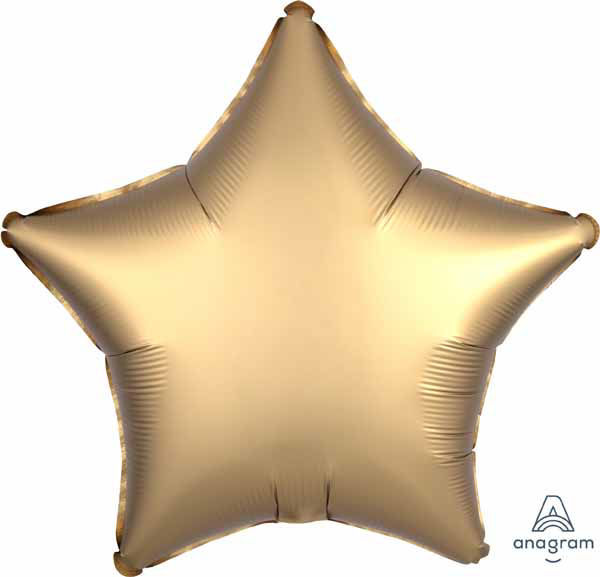 "Picture of 19"" Satin Luxe Gold Star Foil Balloon (helium-filled)"