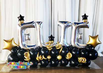 Picture of Balloon Name Arrangement with stars