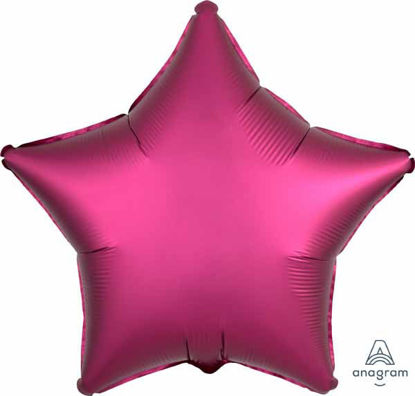 "Picture of 19"" Satin Luxe Pomegranate Star Foil Balloon (helium-filled)"
