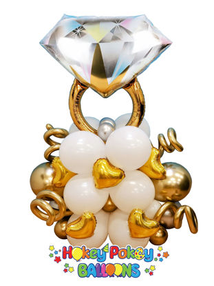 Picture of Diamond Ring  Deluxe Balloon Arragement