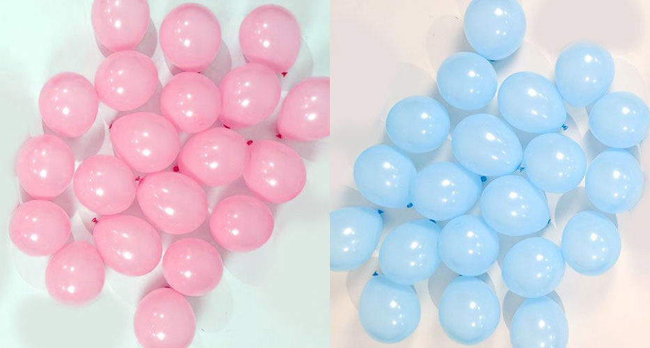Picture of Question Marks  Gender Reveal Balloon Bouquet (helium-filled)