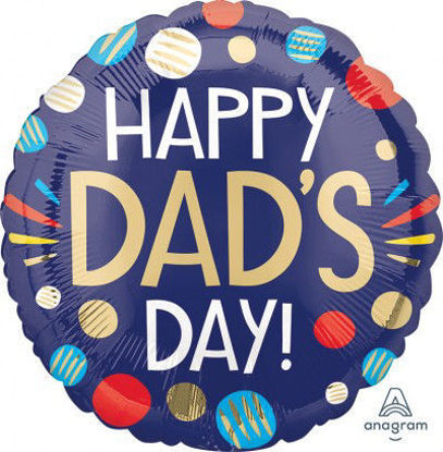 Picture of 18'' Happy Dad's Day Foil Balloon (helium-filled)