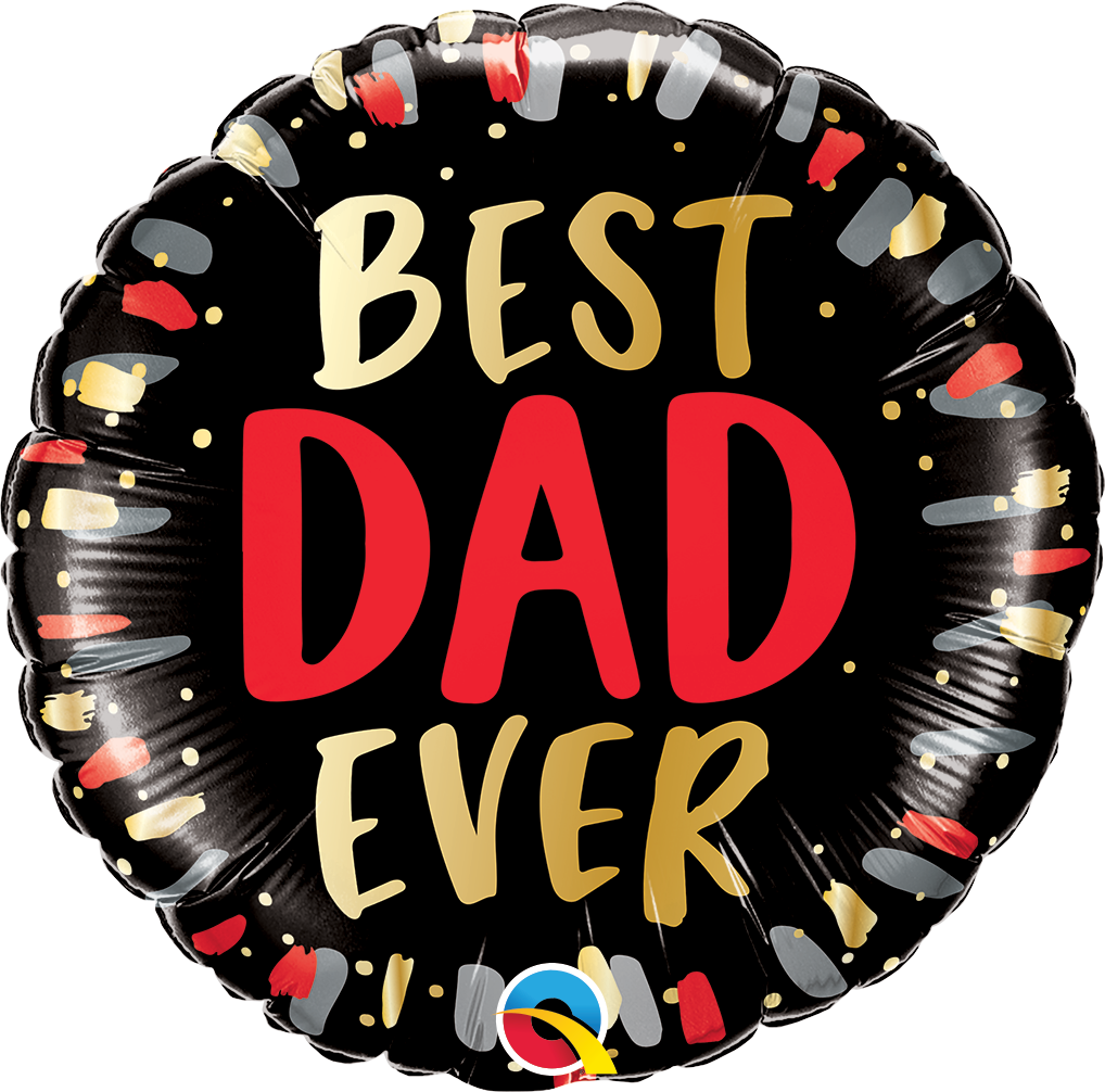 Picture of 18'' Best Dad Ever Foil Balloon (helium-filled)