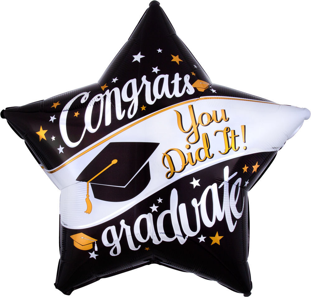 Picture of 28″ On Your Way Grad Jumbo  Foil Star Balloon (helium-filled)