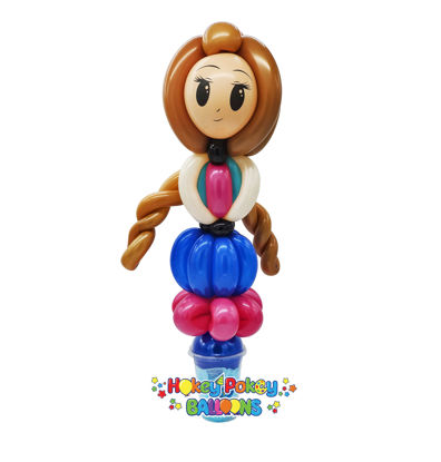Picture of Deluxe Princess with Braids - Balloon Candy Cup