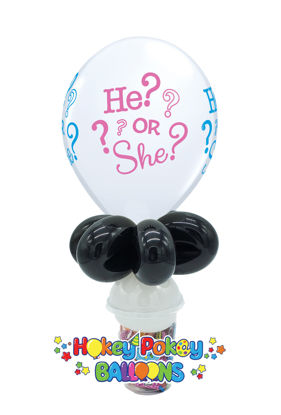 Picture of 11'' He? or She? -  Balloon Candy Cup