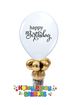 "Picture of 11""  Simply Happy Birthday Balloon Candy Cup"