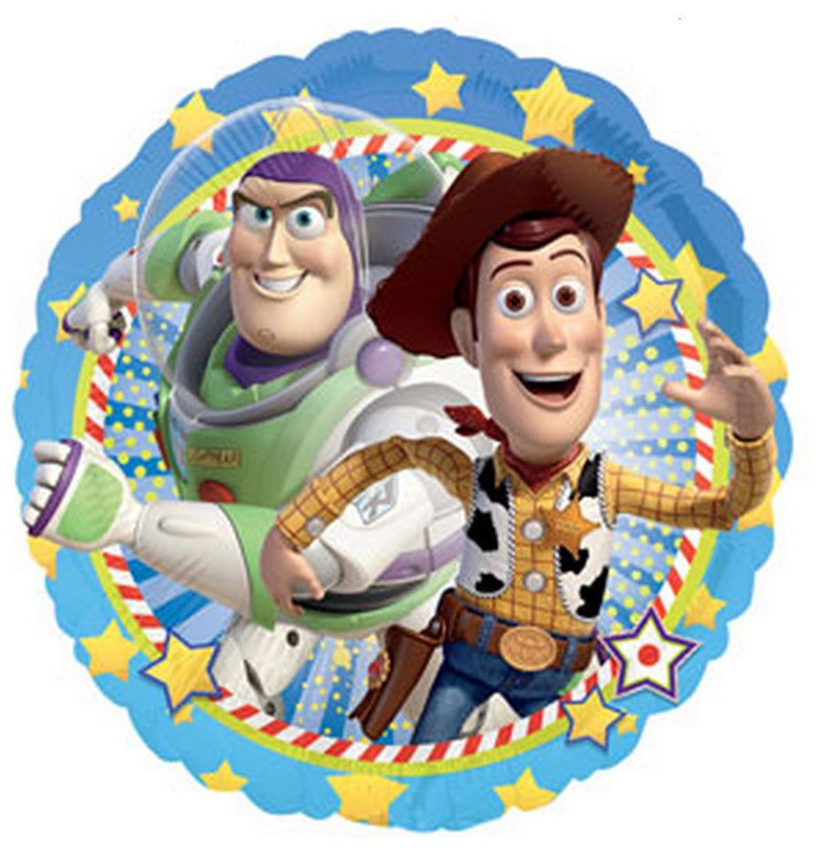 """Picture of 18""""  Woody and Buzz Lightyear - Toy Story Foil Balloon (helium-filled)"""
