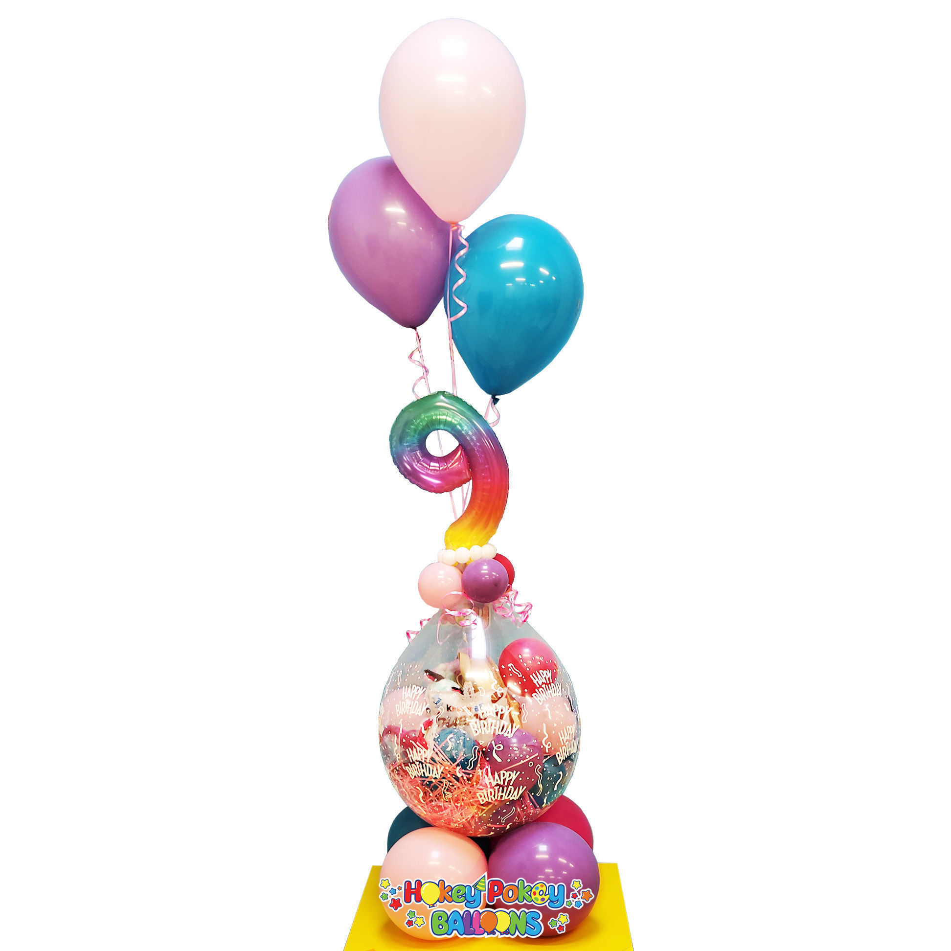 Picture of Bring Your Own Gift - Stuffed Balloon with Number and 3 Helium Balloons