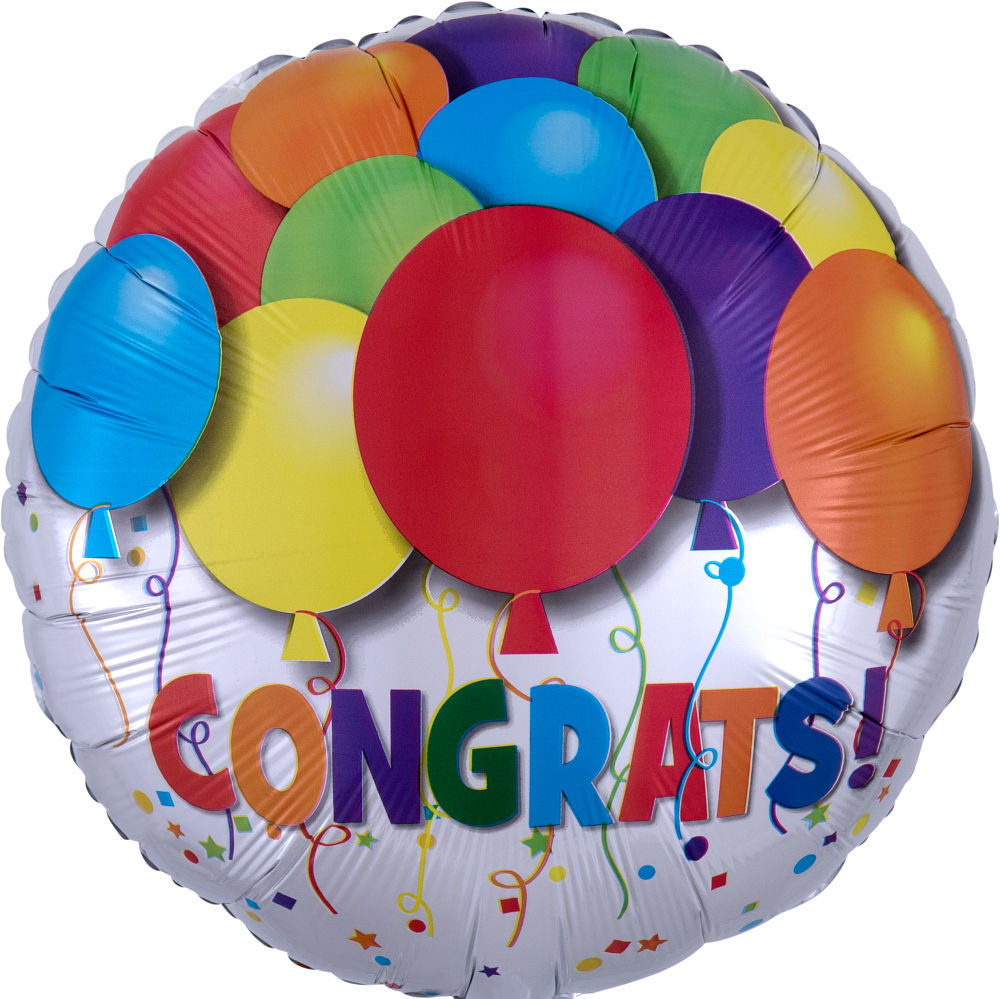 "Picture of 18"" Bold Congratulations Foil Balloon  (helium-filled)"