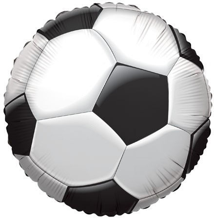 "Picture of 18"" Soccer Ball Foil Balloon (helium-filled)"