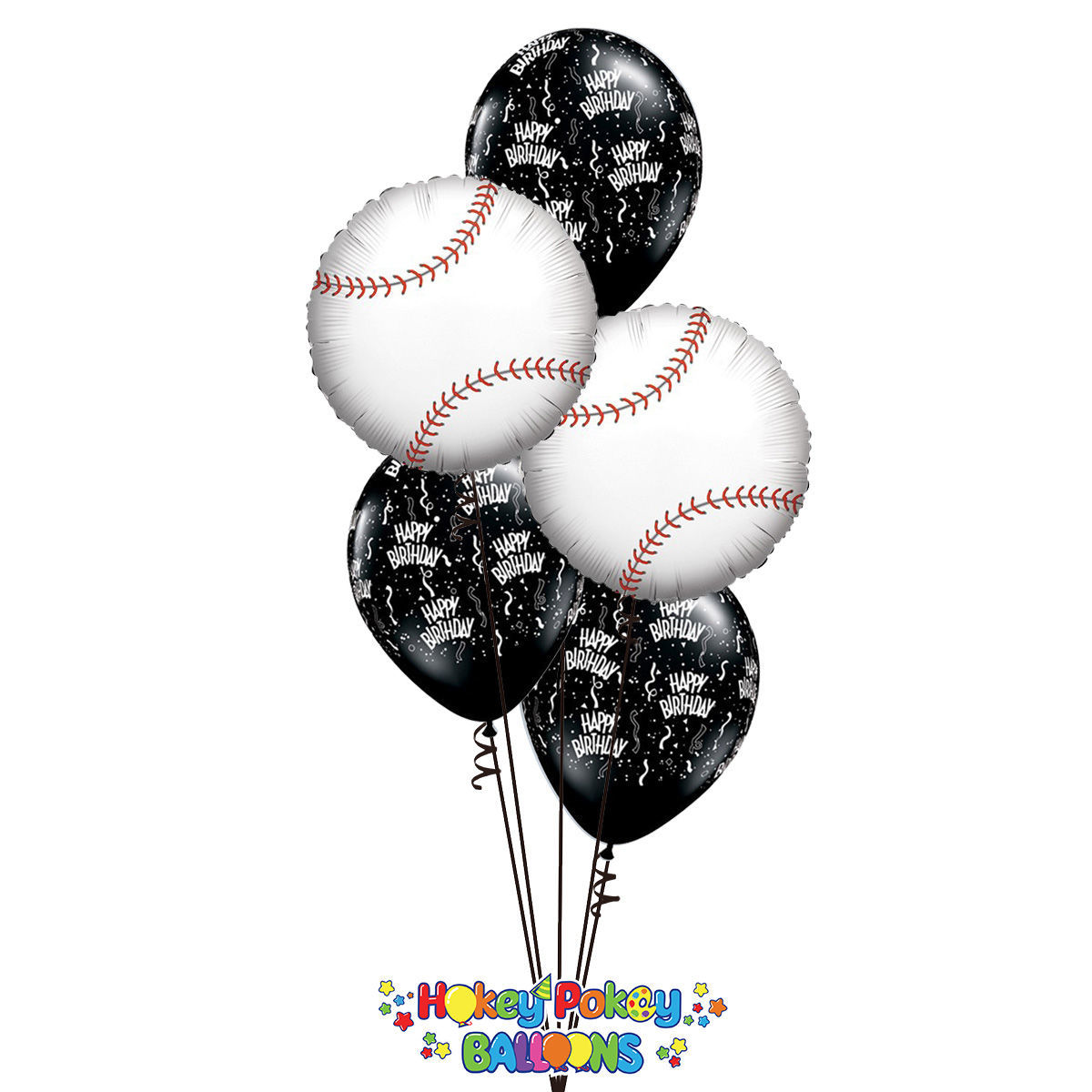 Picture of Baseball Birthday - Balloon Bouquet (5 pc)