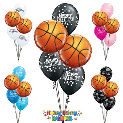 Picture of Basketball Birthday - Balloon Bouquet (5 pc)