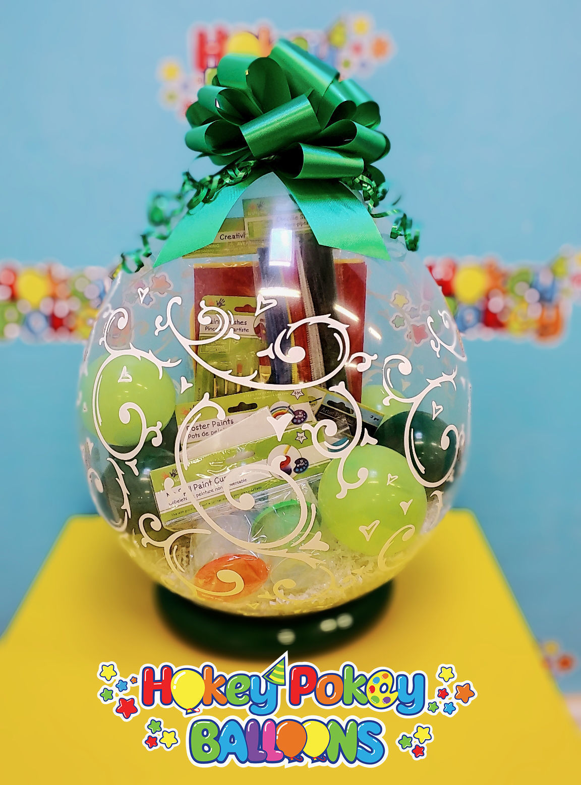 Picture of Little Artist  - Stuffed Balloon Gift with a Bow