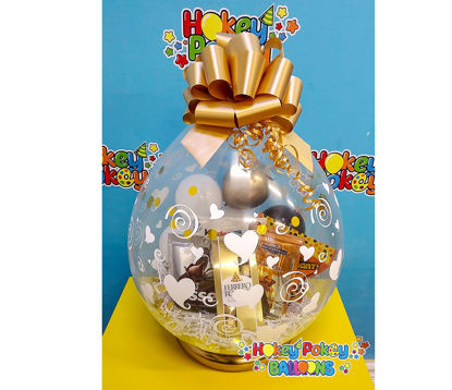 Picture of Totally Chocolate  - Stuffed Balloon Gift with Bow