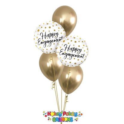 Picture of Happy Engagement Balloon Bouquet of 5