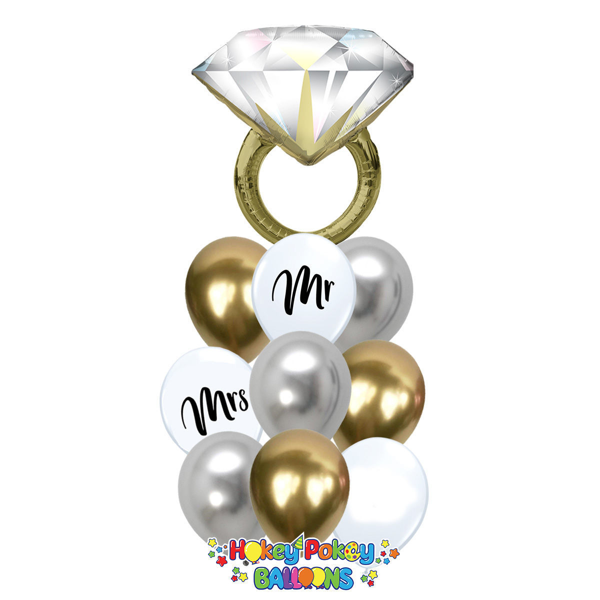 Picture of Put a Ring On - Balloon Bouquet of 10