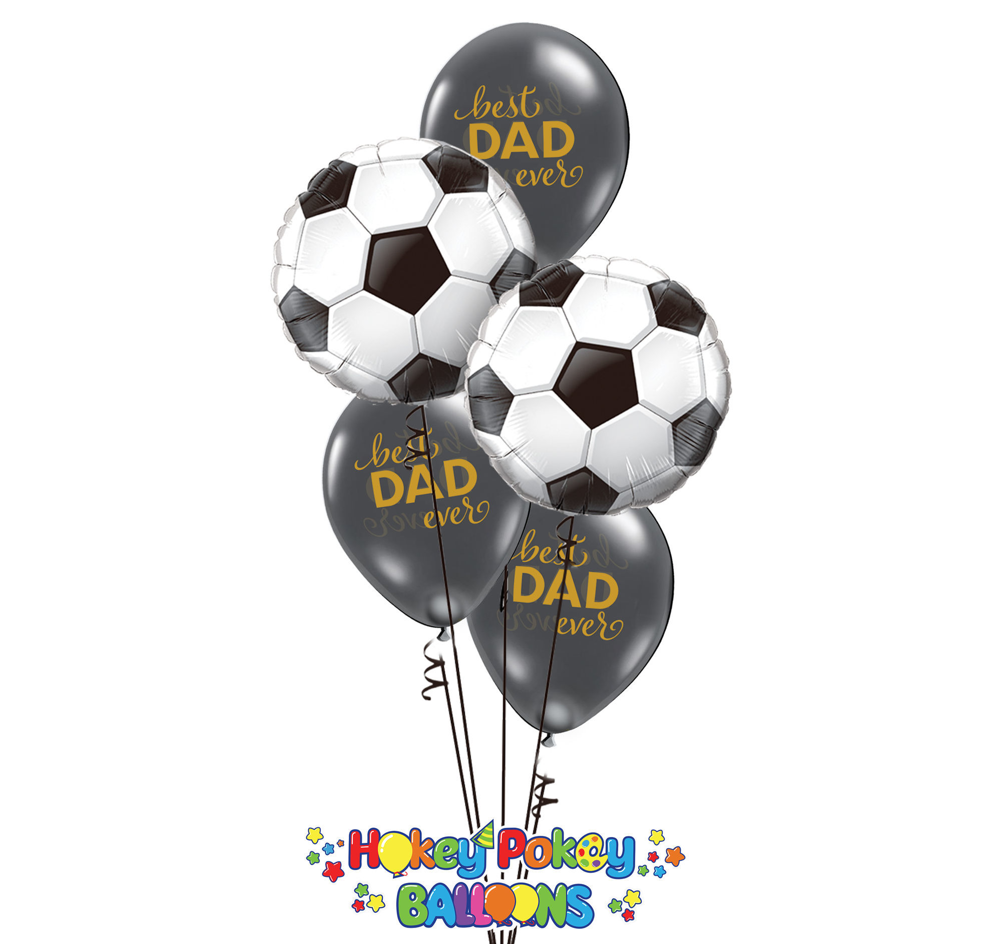 Picture of Happy Dad's Day - Sport Balloon Bouquet of 5