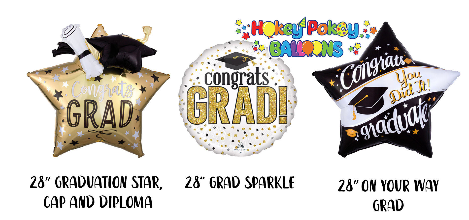 Picture of Congrats on Your Graduation Balloon Bouquet (10 pc)