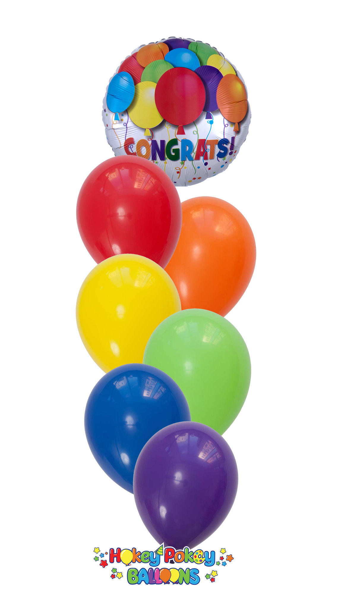 Picture of Fun Party! Congrats Balloon Bouquet (7 pc)