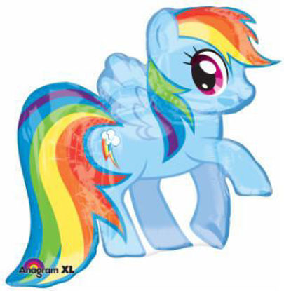 """Picture of 28"""" My Little Pony Rainbow Dash Foil Balloon  (helium-filled)"""