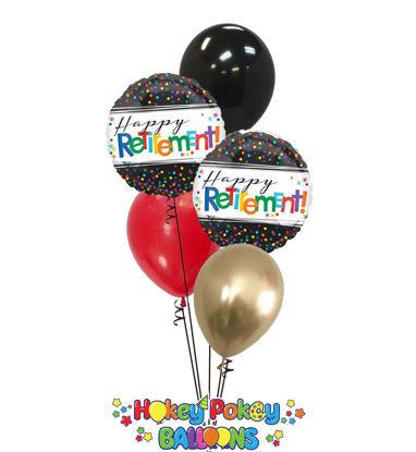 Picture of Happy Retirement - Balloon Bouquet (5 pc)