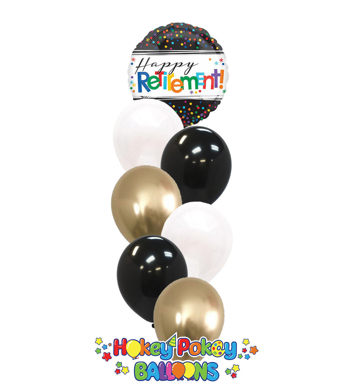 Picture of Classic Retirement - Balloon Bouquet (7 pc)