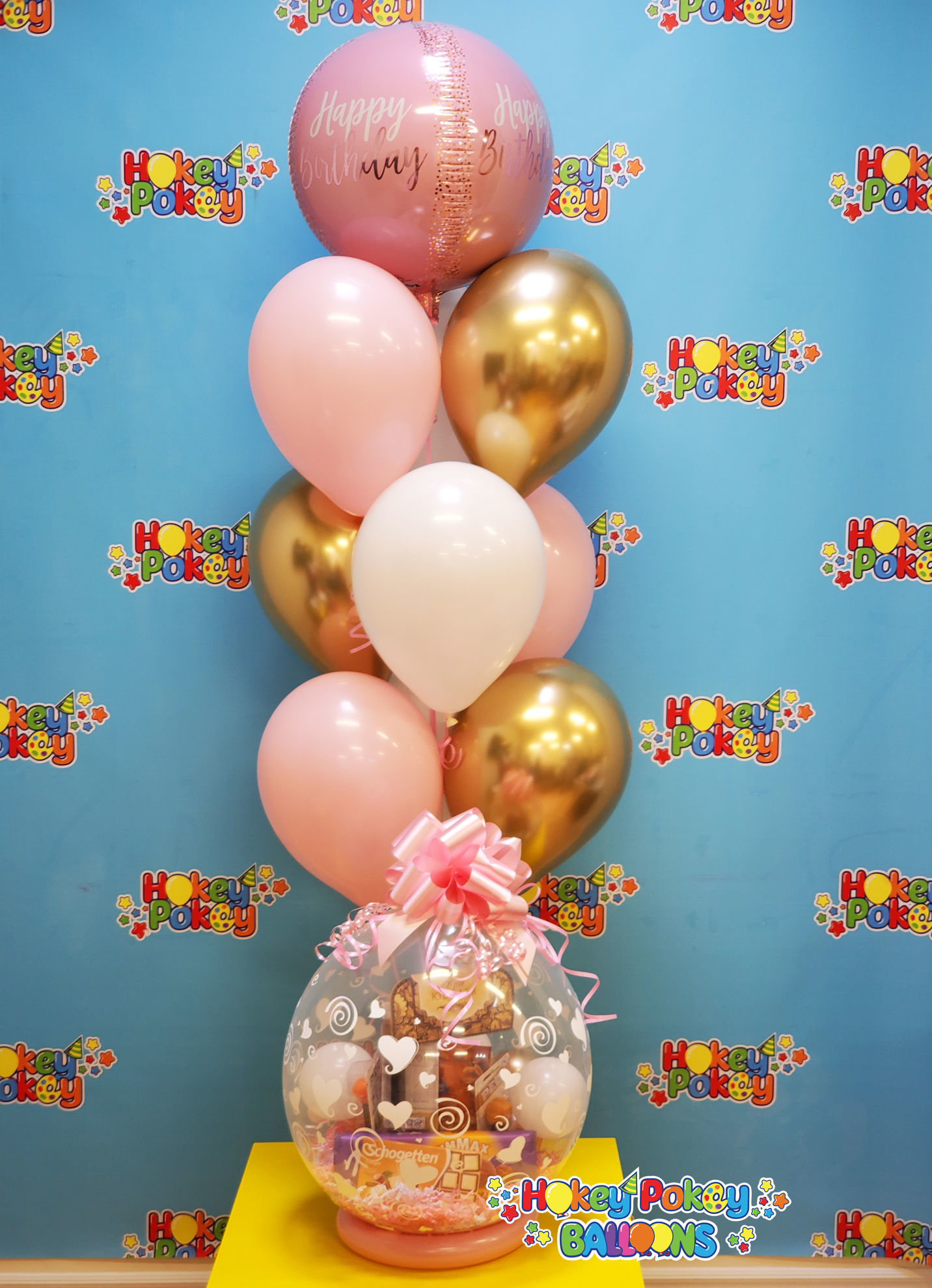 Picture of Luxury Pink - Birthday Balloon Bouquet of 10