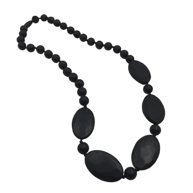 Picture of Black Silicone Teething Necklace