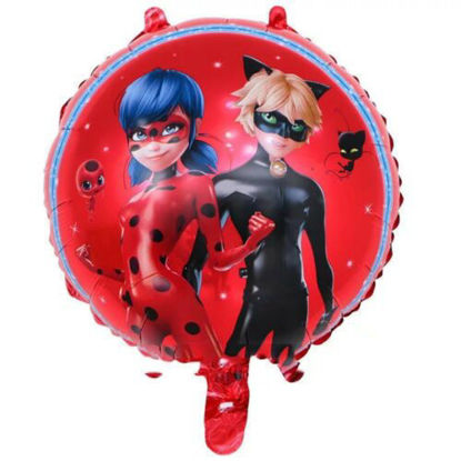 """Picture of 18"""" Miraculous Ladybug & Cat Noir Foil Balloon (helium-filled)"""