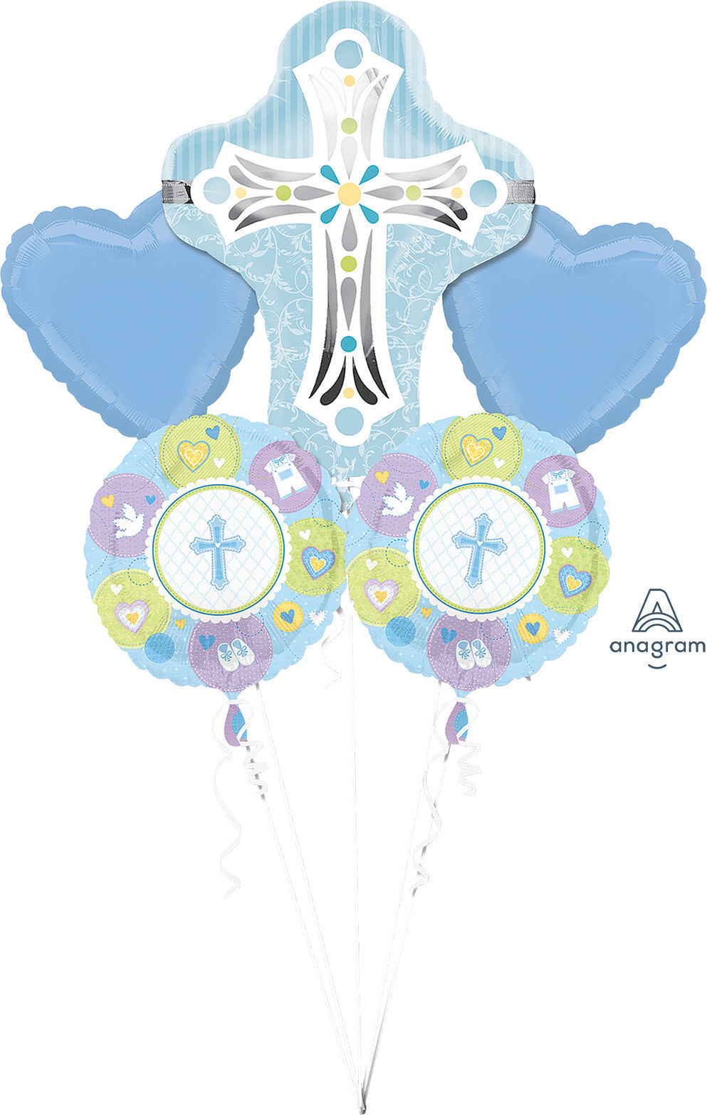 Picture of Blue Cross Balloon Bouquet (5 pc)